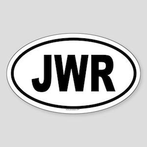 JWR Oval Sticker