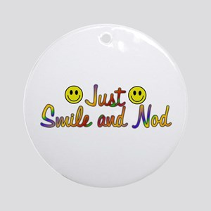 Smile And Nod Ornament (Round)
