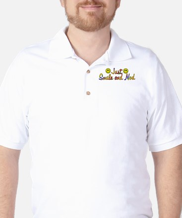 Smile And Nod Golf Shirt