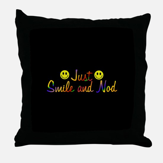 Smiley Face Forrest Gump Pillows Smiley Face Forrest Gump Throw
