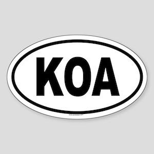 KOA Oval Sticker