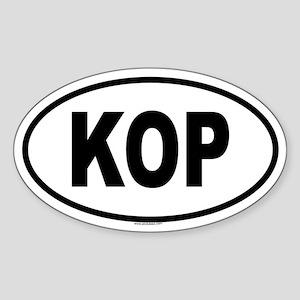 KOP Oval Sticker