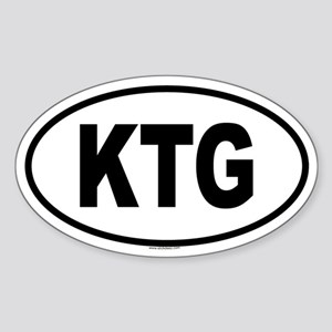 KTG Oval Sticker