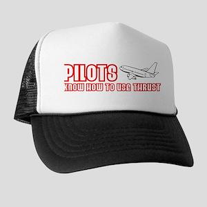 Pilots Use Thrust Trucker Hat