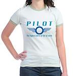 Pilot The Highest Form of Lif Jr. Ringer T-Shirt