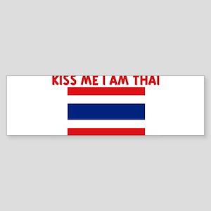 KISS ME I AM THAI Bumper Sticker