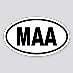 MAA Oval Sticker