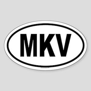 MKV Oval Sticker