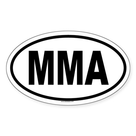 MMA Oval Sticker