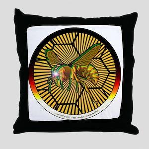Interphasic Bee Throw Pillow