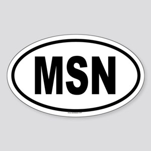 MSN Oval Sticker