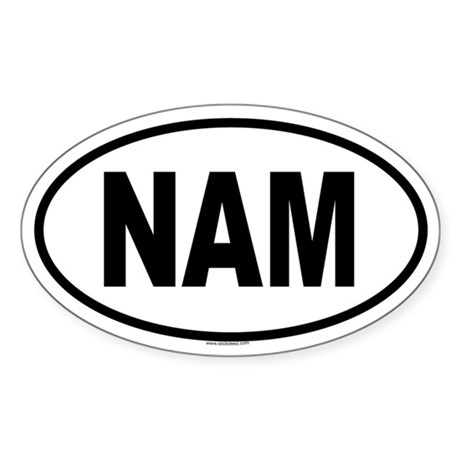 NAM Oval Sticker