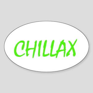 chillax Oval Sticker