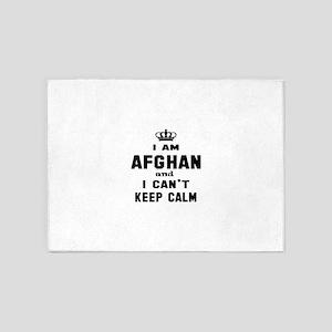 I am Afghan and I can't keep calm 5'x7'Area Rug