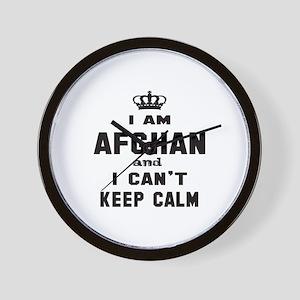 I am Afghan and I can't keep calm Wall Clock