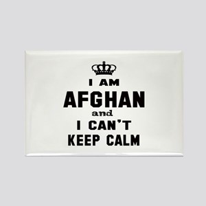 I am Afghan and I can't keep calm Rectangle Magnet