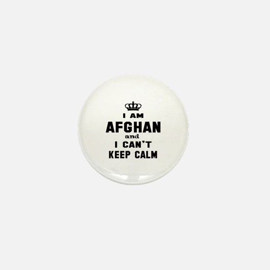 I am Afghan and I can't keep calm Mini Button