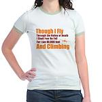 Though I Fly Jr. Ringer T-Shirt