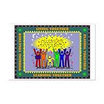 Celebrate Diversity Mini Poster Print