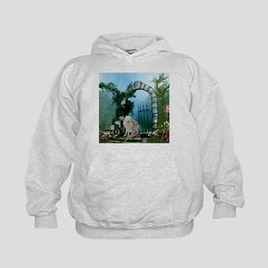 Wonderful fairy with white wolf Sweatshirt