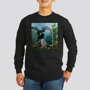 Wonderful fairy with white wolf Long Sleeve T-Shir