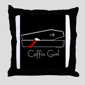 COFFIN GIRL Throw Pillow