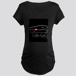 COFFIN GIRL Maternity Dark T-Shirt