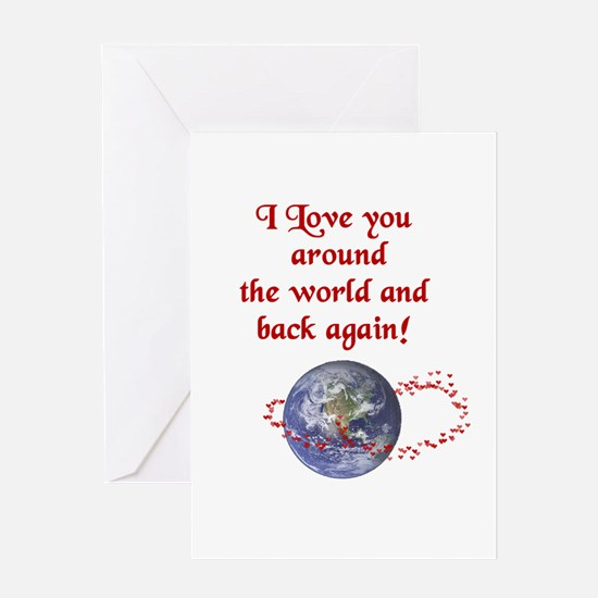Love You Around the World Greeting Card