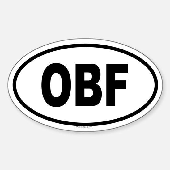OBF Oval Decal