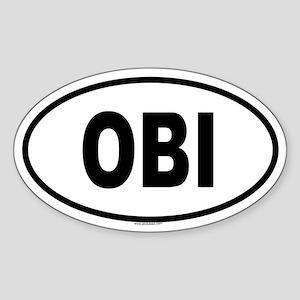 OBI Oval Sticker