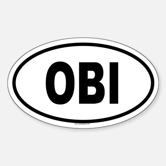 OBI Oval Decal
