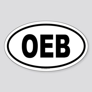 OEB Oval Sticker