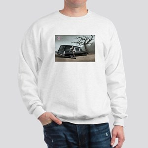 Hearse with Gothic Pin-up Gir Sweatshirt