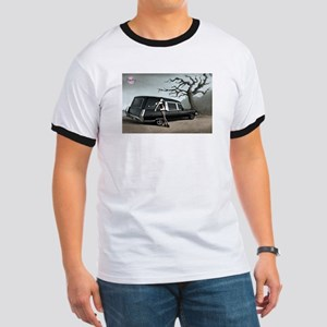 Hearse with Gothic Pin-up Gir Ringer T