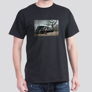 Hearse with Gothic Pin-up Gir Dark T-Shirt