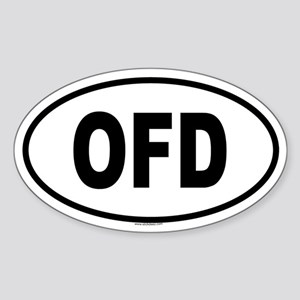 OFD Oval Sticker