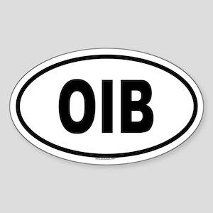 OIB Oval Sticker