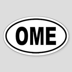 OME Oval Sticker