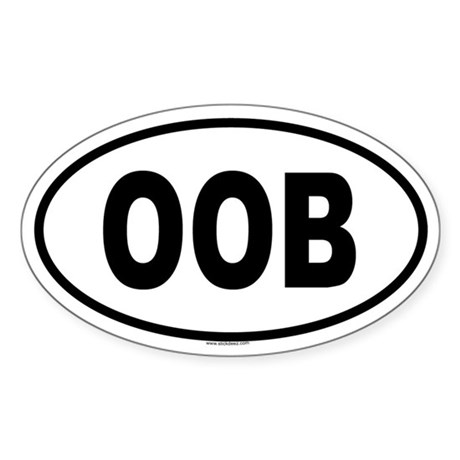 OOB Oval Sticker