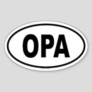 OPA Oval Sticker
