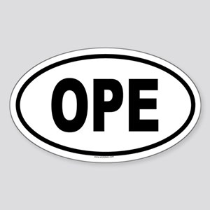 OPE Oval Sticker