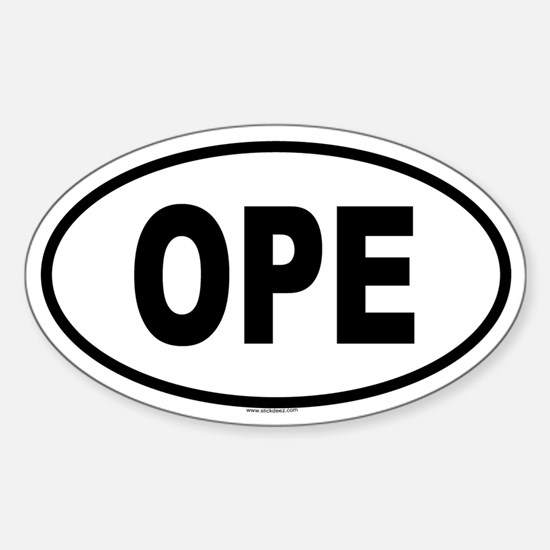 OPE Oval Decal