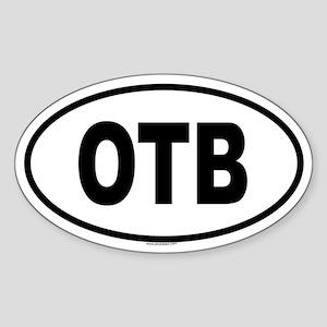 OTB Oval Sticker