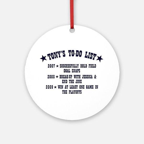 Tony's To-Do List Ornament (Round)