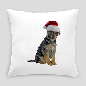 German Shepherd Santa Everyday Pillow