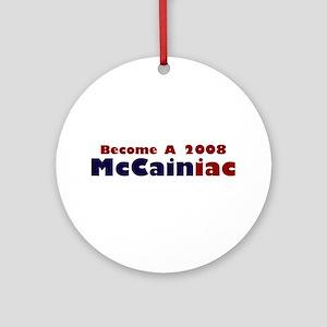 2008 McCainiac Ornament (Round)