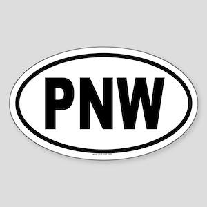 PNW Oval Sticker