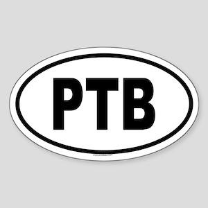 PTB Oval Sticker