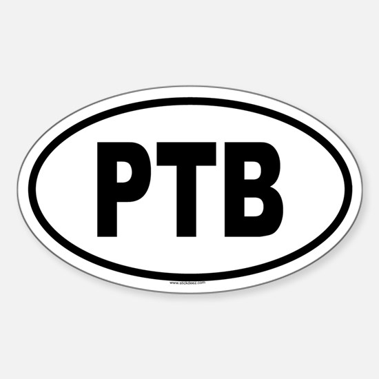 PTB Oval Decal