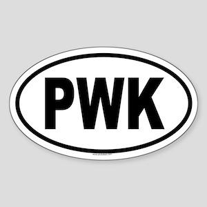 PWK Oval Sticker